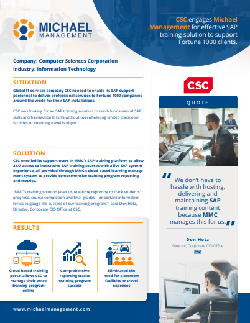 SAP training success story from csc