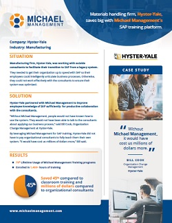 SAP training success story from Hyster-Yale