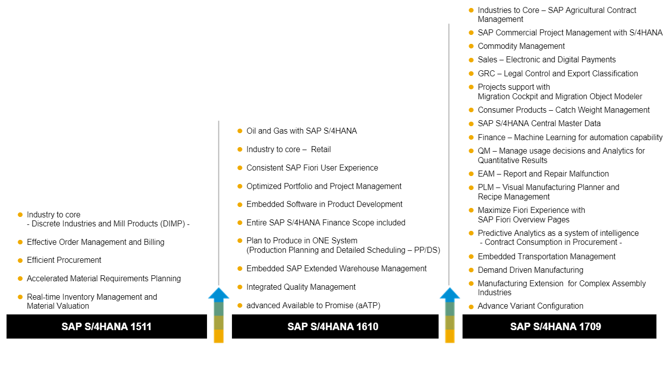 sap s4 hana version