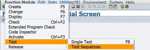 BAPI test sequence