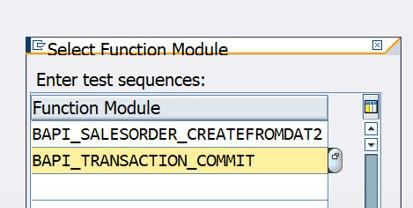 Select function module