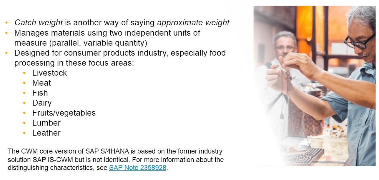 Catch weight management in S/4HANA 1709