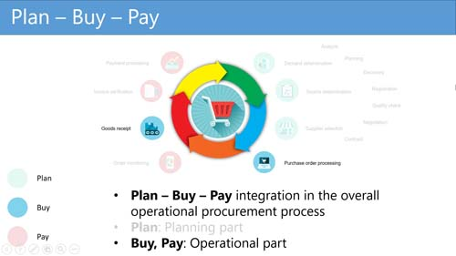 Figure 3: Operational buying part of the Plan - Buy - Pay process