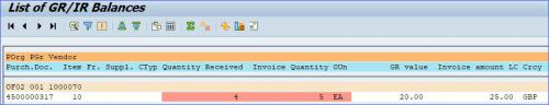SAP System Screenshot