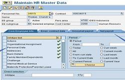SAP employee master data