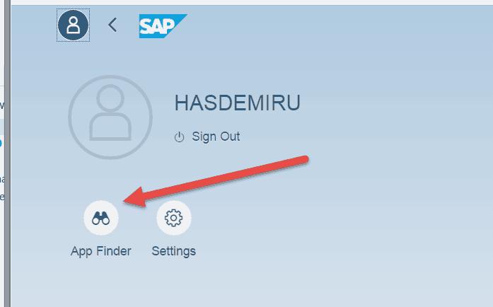 Fiori 2 0 - The SAP GUI Menu is back