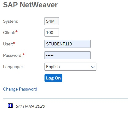 sap gui screen