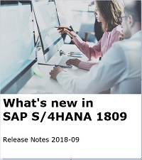 What's new in SAP S/4HANA 1809